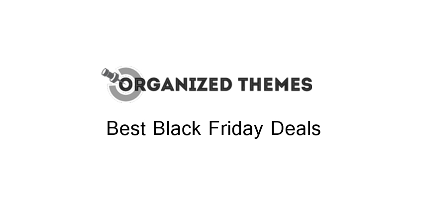 Organized Themes black friday