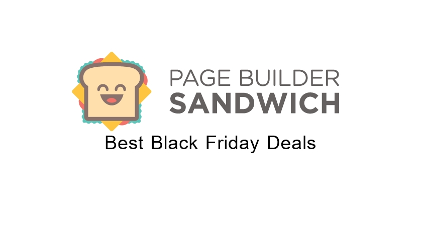 Page Builder Sandwich Black Friday