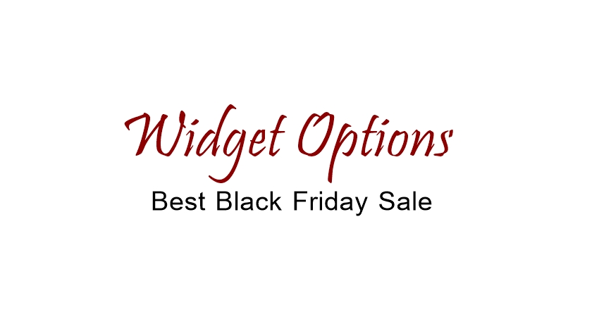 Widget Options Black Friday