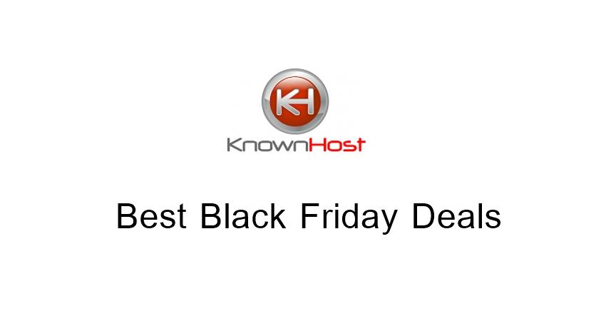 KnownHost Black Friday