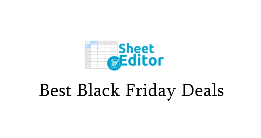 WP Sheet Editor Black Friday