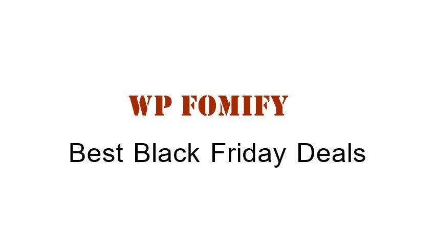 WPfomify Black Friday